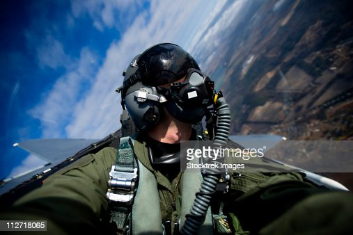 December 17, 2010 -U.S. Air Force pilot documents an F-15E Strike Eagle aircraft during a training mission over North Carolina.