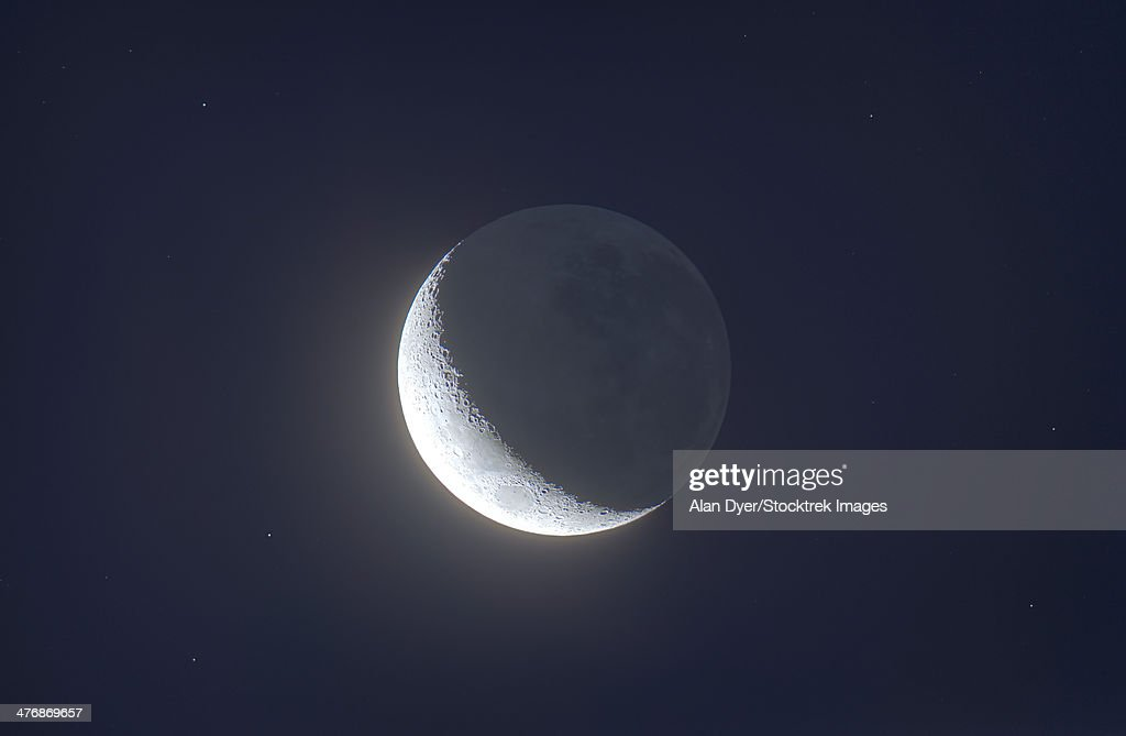 December 17, 2012 - Waxing crescent moon with Earthshine.