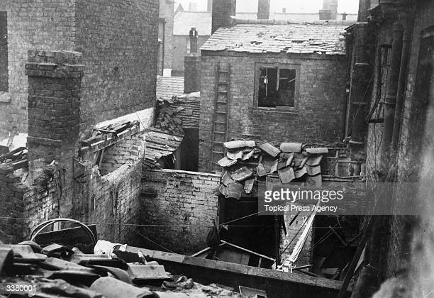 Bentwick Street Kings Lynn in ruins after a bombing raid