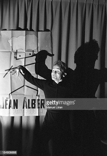 December 1956 John Albert has left 'The Companions of the song' to try a solo career John Albert a poster in front of his show