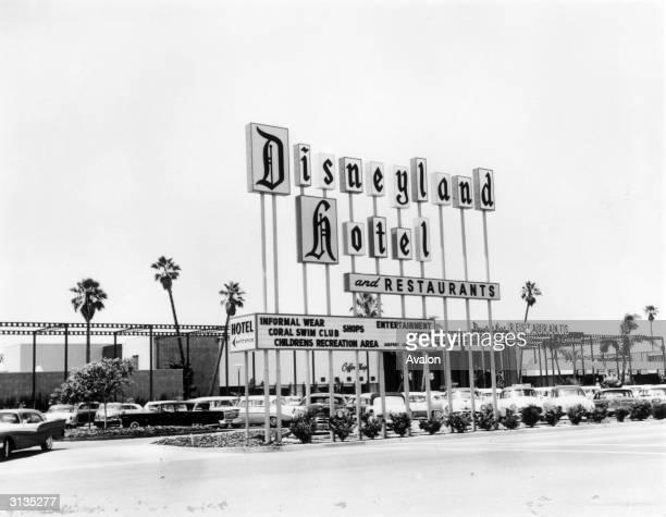 The Disneyland Hotel at Disneyland amusement park in Anaheim California