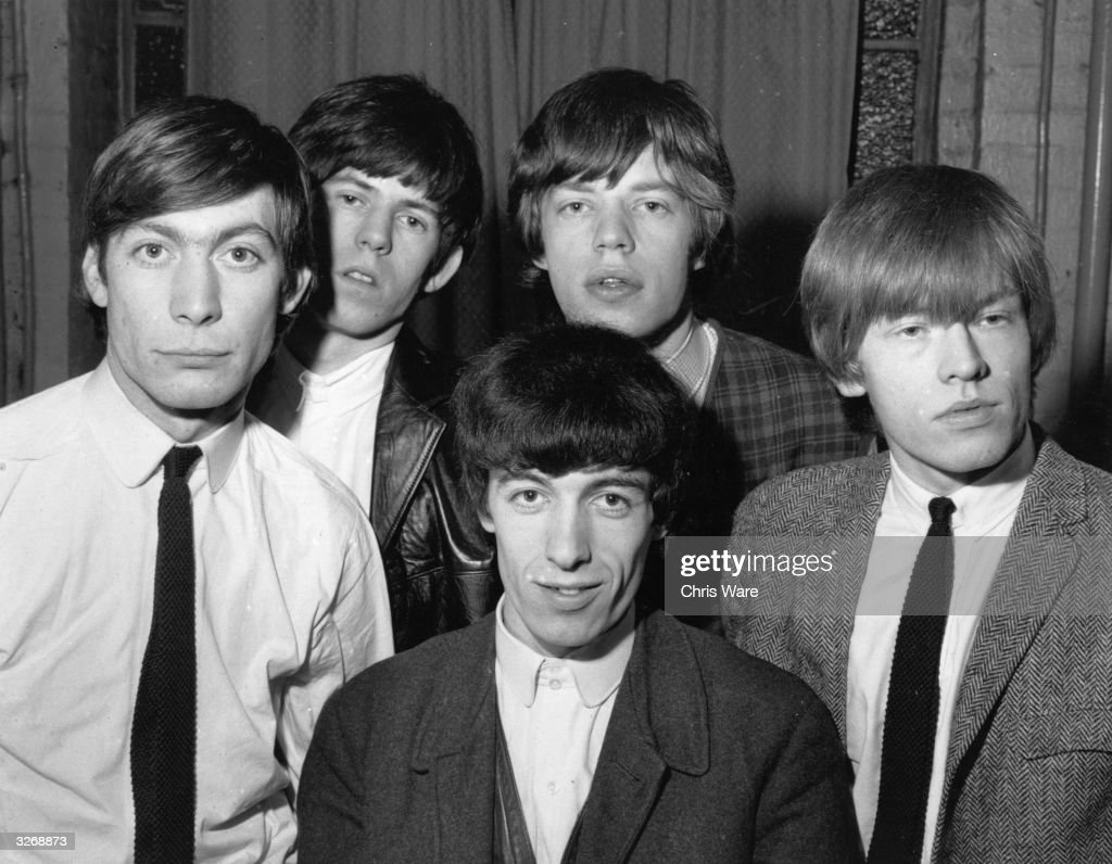 British rhythm and blues group The Rolling Stones from left to right Charlie Watts Keith Richards Bill Wyman Mick Jagger and Brian Jones