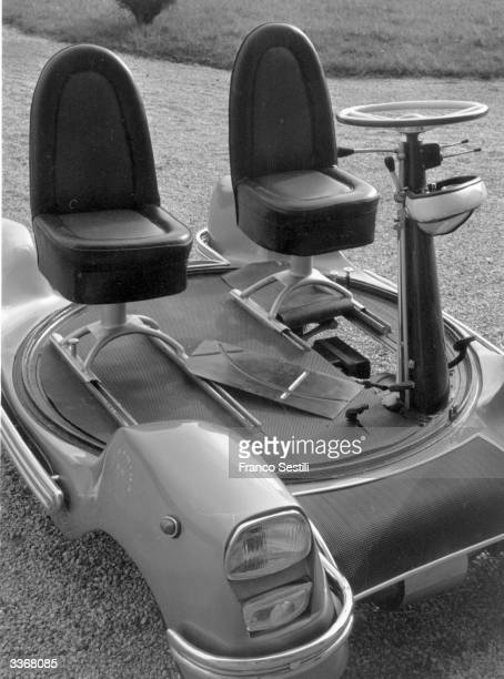 The 'Urbania' the world's smallest working car invented by Marquis Piero Bargagli of Poggio Adorno to solve the problem of limited parking space The...