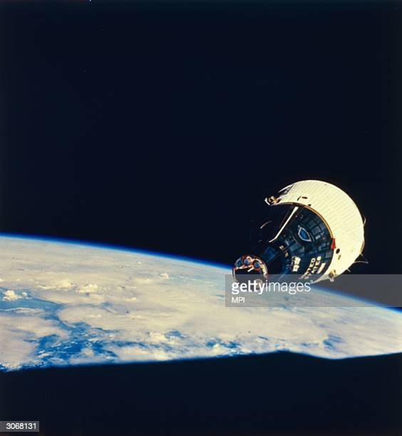 The Gemini 7 space capsule orbits the earth during its 14day manned mission