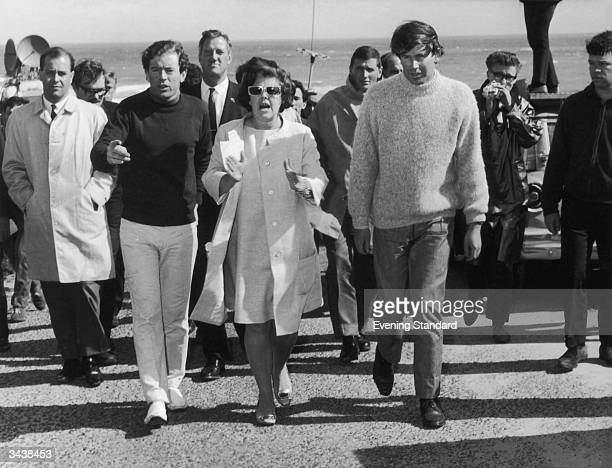 Relatives and friends of Australian prime minister Harold Holt at Portsea near Melbourne Australia where Holt went missing while swimming He was...