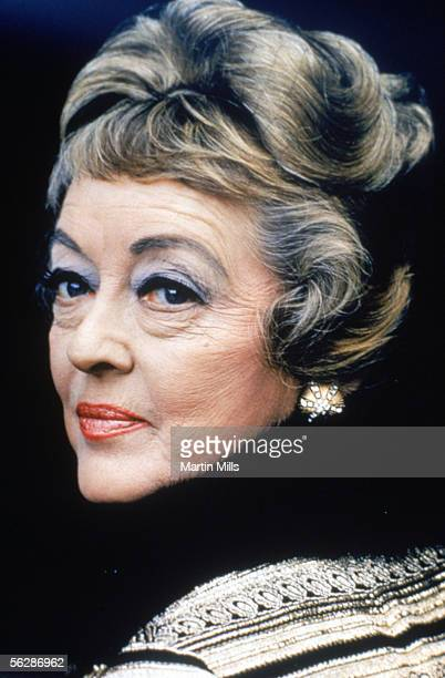 Bette Davis on the set during filming of 'It Takes A Thief' in December 1970