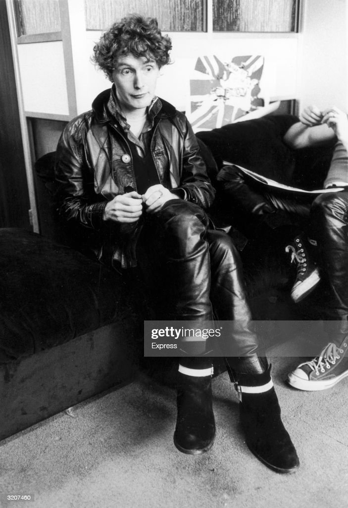 Malcolm McLaren, owner of the clothing shop 'Sex' in London, and manager of British punk rock band the Sex Pistols.