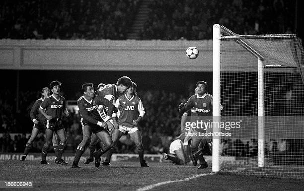 20 December 1986 English Football League Division One Arsenal v Luton Town Tony Adams heads home an Arsenal goal