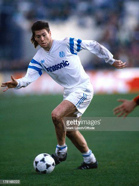 17 December 1989 French Football Marseille v Nice Chris Waddle runs with the ball for L'OM