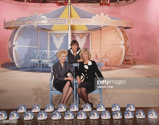 December 1990 the game show 'Turn rut' anime by Simone GARNIER Fabienne EQUAL and Evelyne Leclercq on TF1