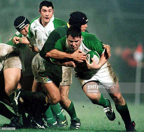 1 December 1998 Anthony Foley Ireland is tackled by Philip Smith South Africa International Friendly Ireland A v South Africa A Ravenhill Park...