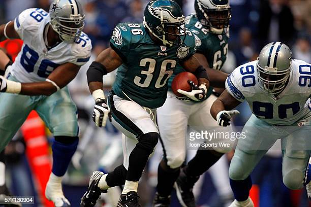 16 December 2007 Brain Westbrook of the Philadelphia Eagles runs during the Eagles 106 win over the Dallas Cowboys at Texas Stadium in Irving Texas