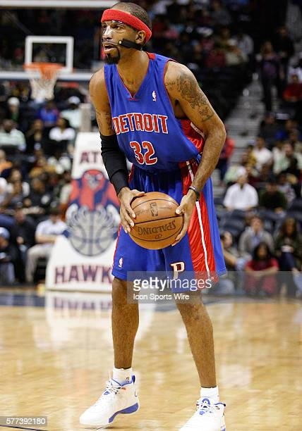 Detroit's Richard Hamilton in Atlanta Hawks 8578 victory over the Detroit Pistons at Philips Arena in Atlanta GA