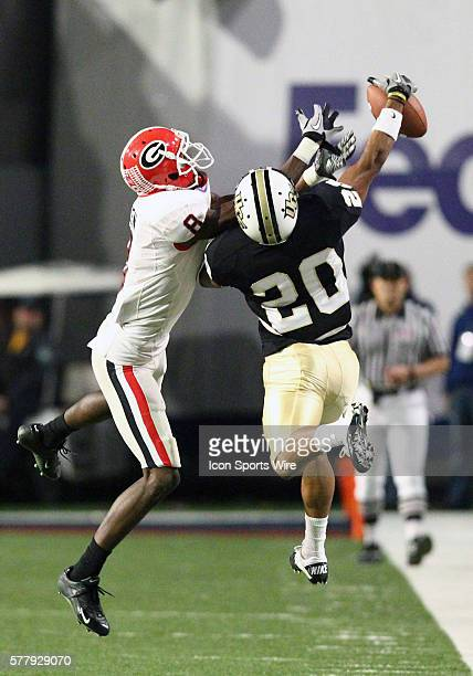 UCF Knights cornerback Josh Robinson breaks up pass for Georgia Bulldogs wide receiver AJ Green University of Central Florida defeated Georgia...