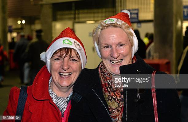 6 December 2014 Munster supporters Geraldine O'Connell left from Croom Co Limerick and Mary O'Donnell from Cahir Co Tipperary mother of Munster...