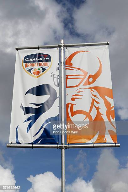 A general view of the stadium before the NCAA College Football Playoff Semifinal at the Capital One Orange Bowl game between the Clemson Tigers and...