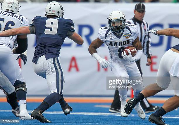 Akron Zips running back Donnell Alexander during Famous Idaho Potato Bowl game between the Akron Zips and the Utah State Aggies at Albertsons Stadium...