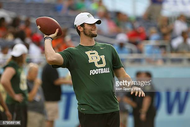 Baylor Bears quarterback Jarrett Stidham before the 2015 Russell Athletic Bowl between the North Carolina Tar Heels and Baylor Bears at the Florida...