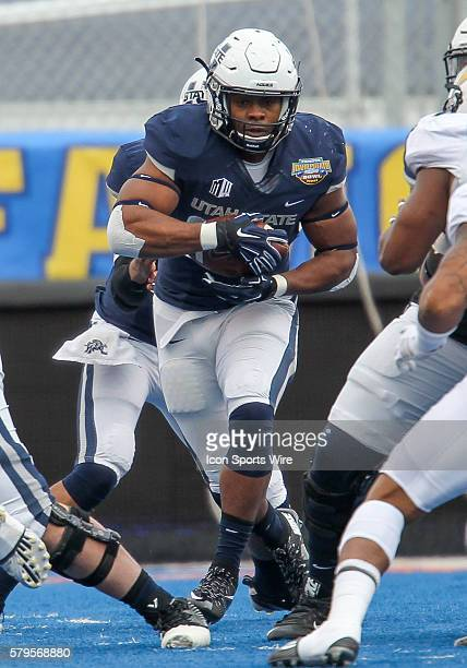 Utah State Aggies running back LaJuan Hunt during Famous Idaho Potato Bowl game between the Akron Zips and the Utah State Aggies at Albertsons...