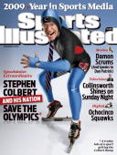 December 21 2009 Sports Illustrated Cover Television Portrait of The Colbert Report host Stephen Colbert during photo shoot dressed in US...