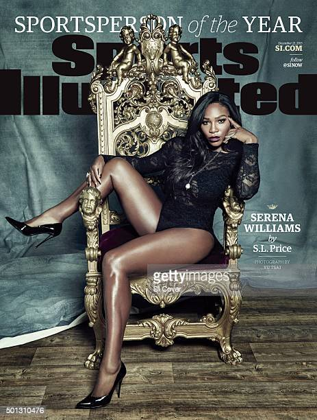 December 21 2015 Sports Illustrated Cover Sportsperson of the Year Portrait of Serena Williams casual posing during photo shoot at Hollywood Aerial...