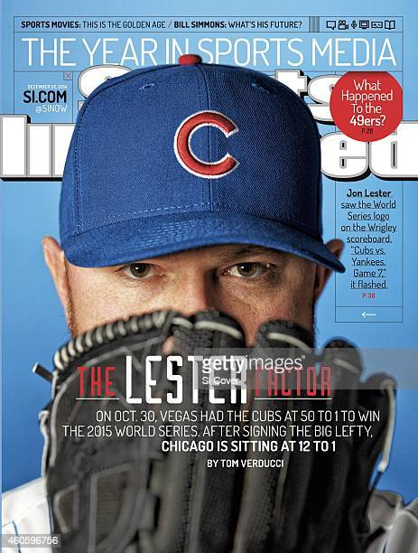December 22 2014 Sports Illustrated Cover Baseball Closeup portrait of Chicago Cubs pitcher Jon Lester during photo shoot Chicago IL CREDIT Todd...