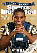 December 25 2006 January 1 2007 Sports Illustrated Cover Football Closeup portrait of San Diego Chargers LaDainian Tomlinson with helmet San Diego CA