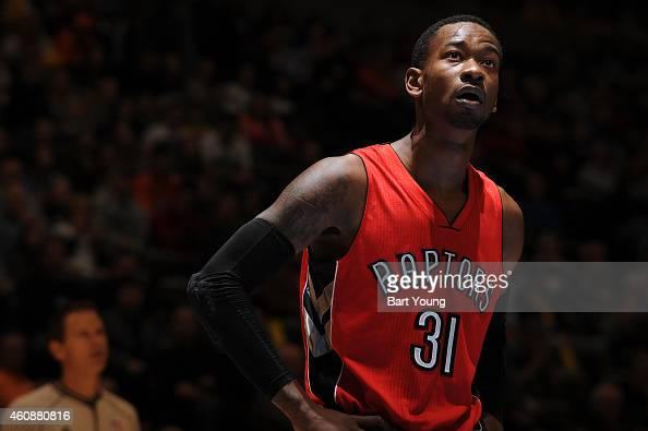 Terrence Ross of the Toronto Raptors during the game against the Denver Nuggets on December 28 2014 at Pepsi Center in Denver Colorado NOTE TO USER...