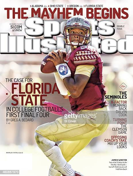 December 29 2014 January 5 2015 Sports Illustrated Cover Florida State QB Jameis Winston in action vs Wake Forest during 1st quarter at Doak Campbell...