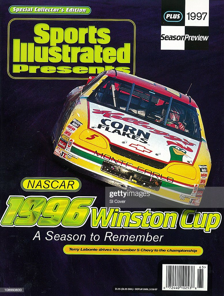 December 4 1996 Sports Illustrated Presents CoverAuto Racing NASCAR Coca Cola 600 Terry Labonte in action during race at Charlotte Motor Speedway...