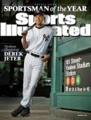 December 7 2009 Sports Illustrated Cover Baseball Sportsman of the Year Portrait of New York Yankees shortstop Derek Jeter during photo shoot at...