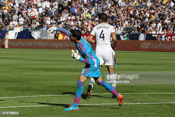 Los Angeles Galaxy's Jaime Penedo distributes the ball The Los Angeles Galaxy defeated the New England Revolution 21 to win the 2014 MLS Cup at the...