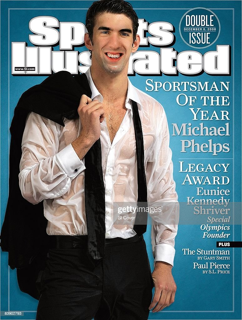 December 8 2008 Sports Illustrated Cover Olympic Swimming Sportsman of the Year Portrait of USA Michael Phelps wearing tuxedo at New York Athletic...