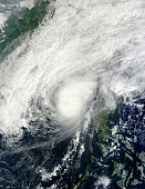December 8, 2012 - Typhoon Bopha over the South China Sea, just off the coast of the Philippine island of Luzon.