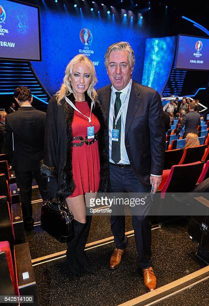 12 December2015 FAI Chief Executive John Delaney with Emma English before the start of the UEFA EURO Final Tournament Draw Le Palais des Congrès de...