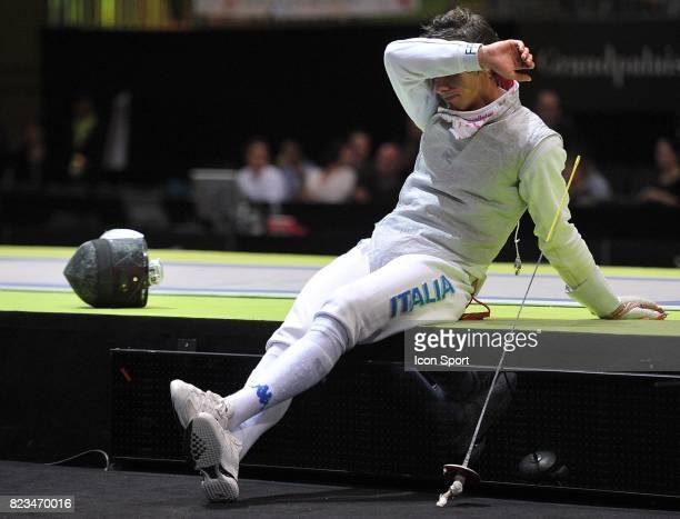 Deception Andrea BALDINI Fleuret Italie / Chine Finale Fleuret par equipes Championnats du Monde 2010 Paris