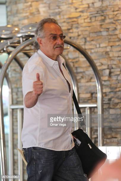 Decio De Maria President of the FEMEXFUT walks during the arrival of the Mexico National Team at Belamar Hotel on July 21 2017 in Los Angeles...