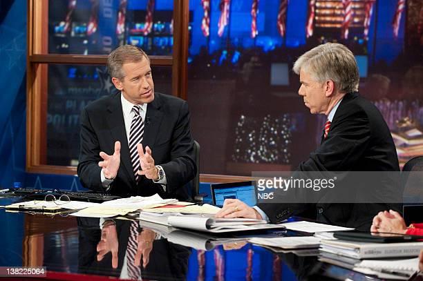 Brian Williams Anchor é·NBC Nightly Newsé· David Gregory Moderator é·Meet the Pressé· during 'Decision 2010' on November 2 2010