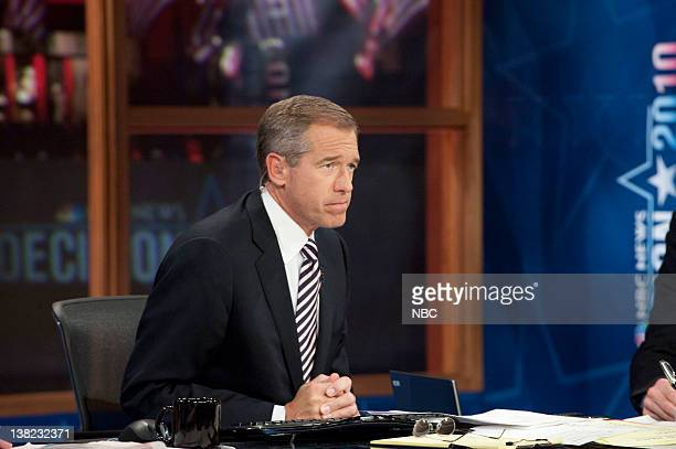 Brian Williams Anchor é·NBC Nightly Newsé· during 'Decision 2010' on November 2 2010