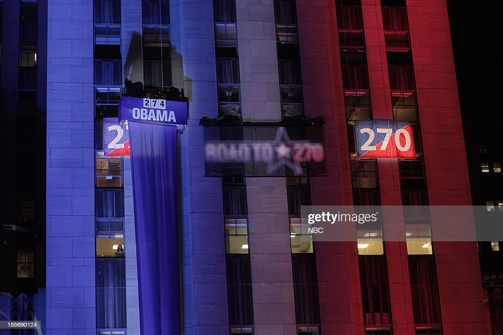 NBC NEWS - EVENTS -- Decision 2012 -- Pictured: Democracy Plaza in Rockefeller Center --