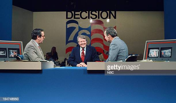 SPECIAL Decision '76 New Hampshire Primary Pictured NBC News' John Chancellor presidential candidate Governor Jimmy Carter NBC New's David Brinkley...