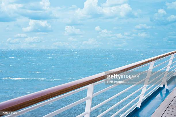 Deck and railing of ship