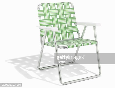 Deck chair, against white background
