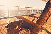 Deck Chair on a Cruise Ship
