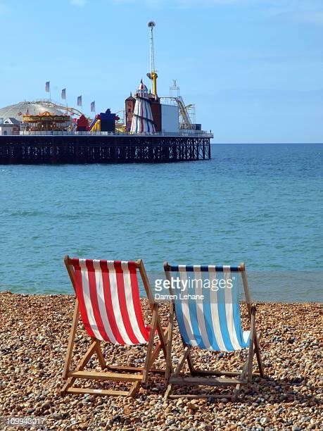 Deck chairs & Brighton Pier