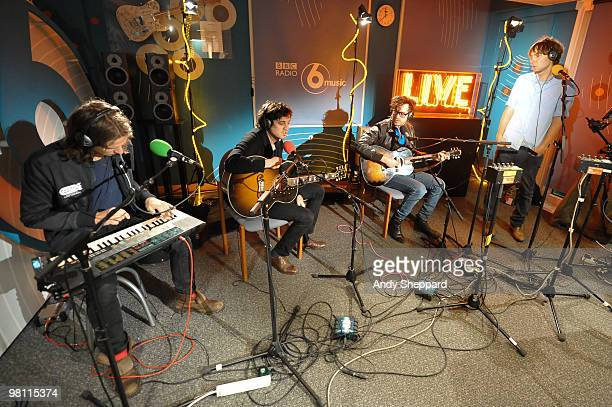 Deck D'Arcy Christian Mazzalai Laurent Brancowitz and Thomas Mars of French alternative rock band Phoenix join Lauren Laverne for a live broadcast...
