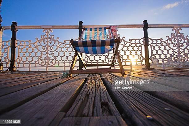 Deckchair on Brighton Pier