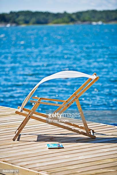 Deckchair on jetty