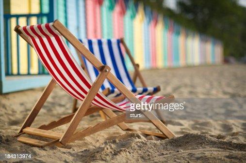 deckchairs and beach huts