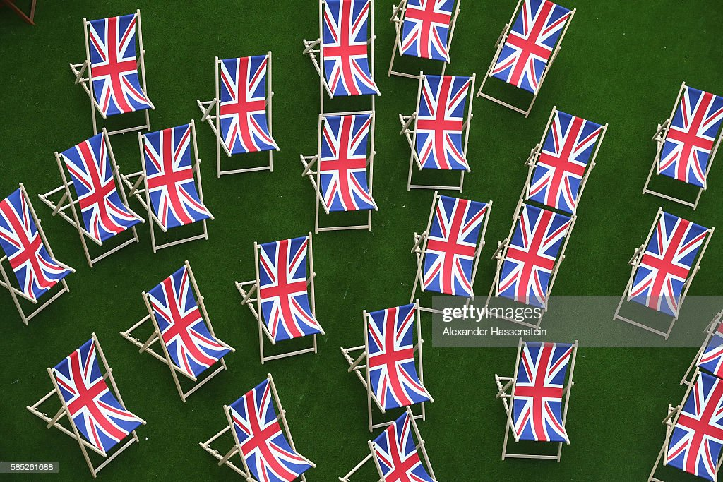 Deckchairs at the Olympic Village ahead of the Rio 2016 Olympic Games on August 2 2016 in Rio de Janeiro Brazil